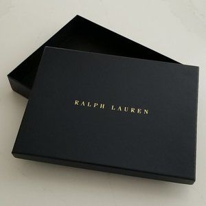 Pair {2} Navy Ralph Lauren Gift Wrapping Boxes